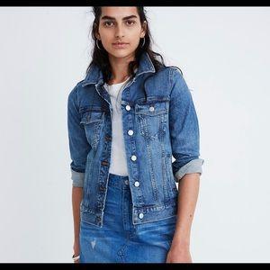 Madewell eco edition stretch denim jacket, small